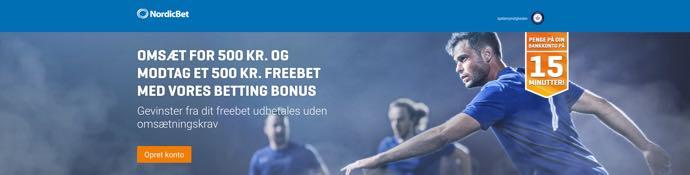 Nordicbet - velkomstbonussen gælder kun nye spillere. Du modtager dit freebet når du har omsat for 500 kr til mindst odds 1.80 indenfor 60 dage