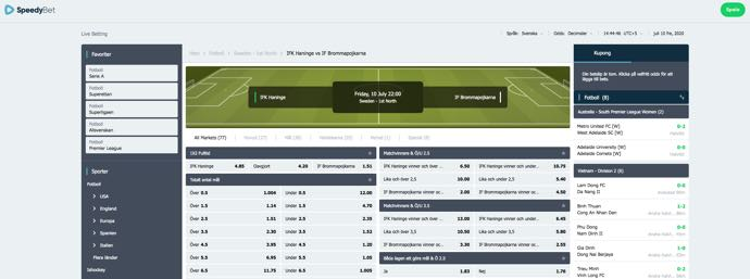 Speedybet - IFK Haninge vs IF Brommapojkarna